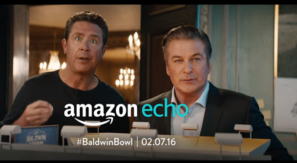 Alec Baldwin and Dan Marino in Amazon's first Super Bowl commercial